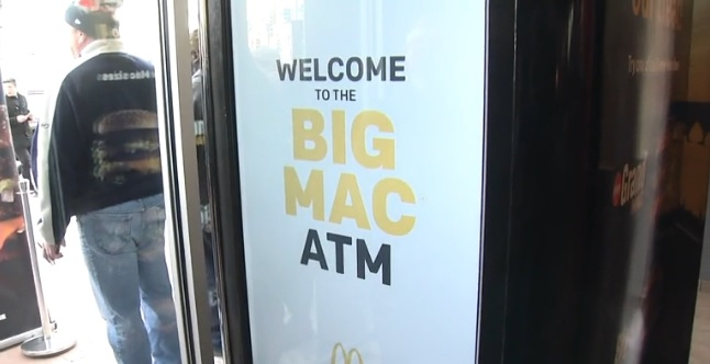 big mac vending machine