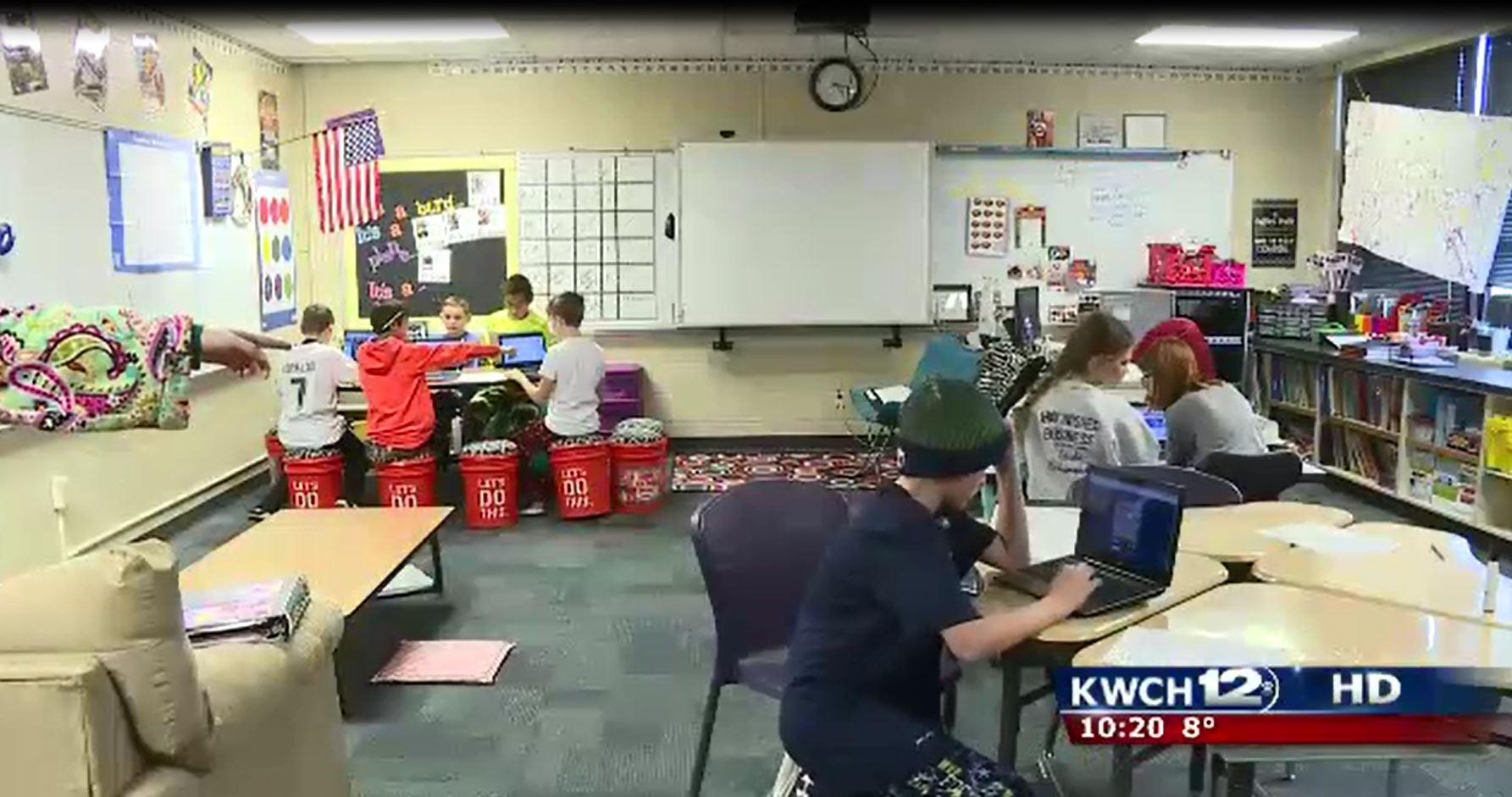 Innovative Classroom : Andover teacher with innovative classroom