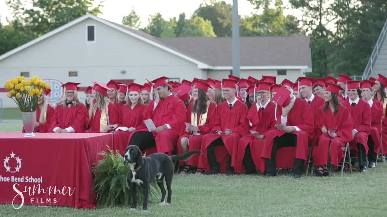 Pup and Circumstance: Pooch steals show at high school