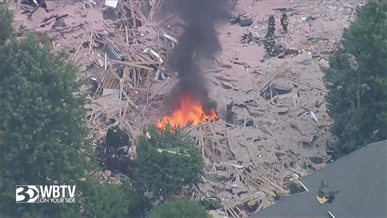 Woman found dead, man seriously injured after explosion destroys