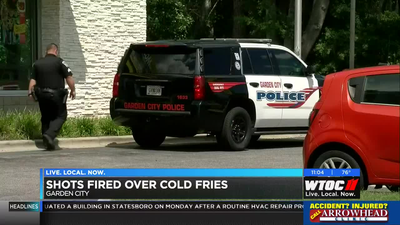 Fight over fries at Ga  McDonald's ends in gunfire, arrest