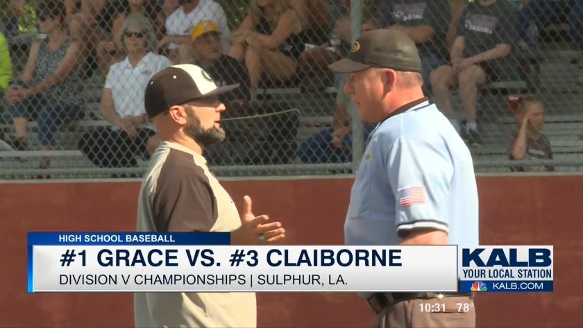 44e842dde52 Grace falls to Claiborne in Division V finale