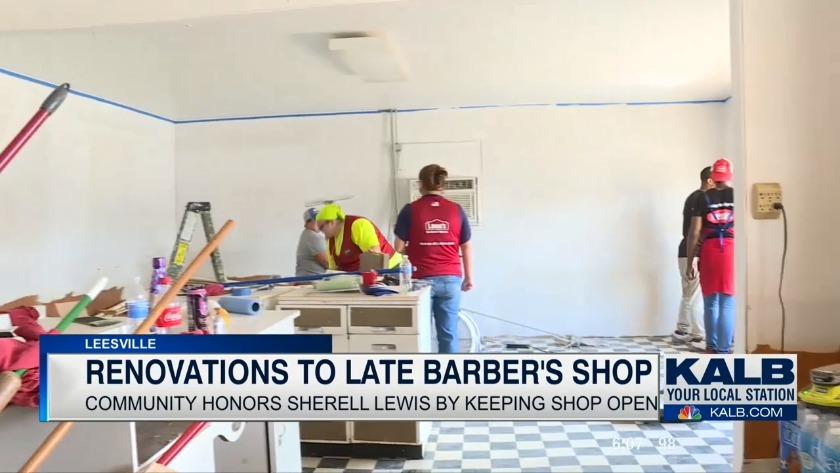 Lowe's helps renovate shop of late Leesville barber