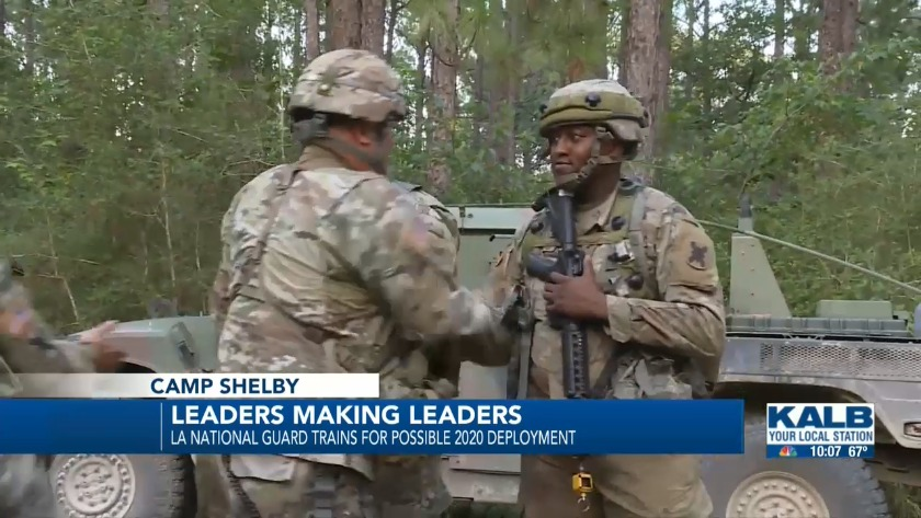 La National Guard leaders mentor soldiers in preparation for