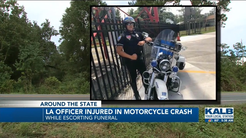 Officer seriously injured in motorcycle crash