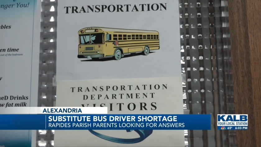 Substitute Bus Driver Shortage