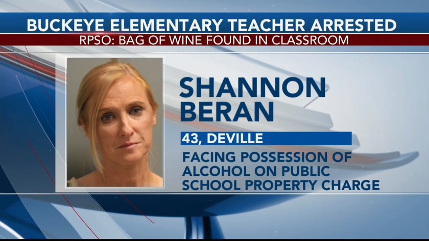 Buckeye Teacher Arrested for Bringing Wine to Class