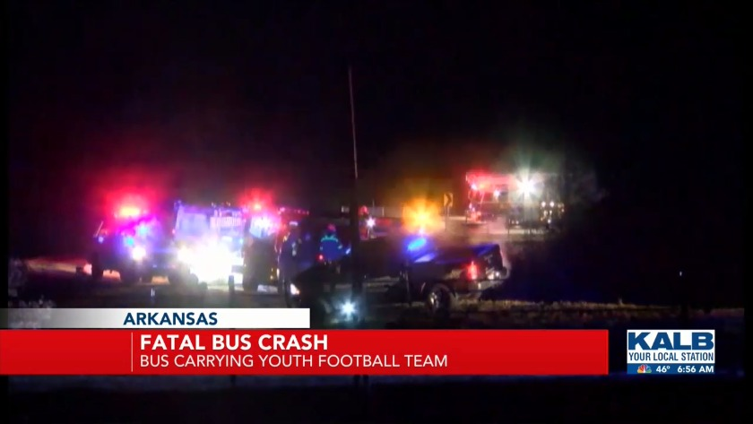One child dead and 40 injured in massive Arkansas bus crash