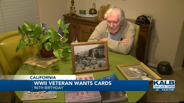 WWII Veteran Wants Birthday Cards