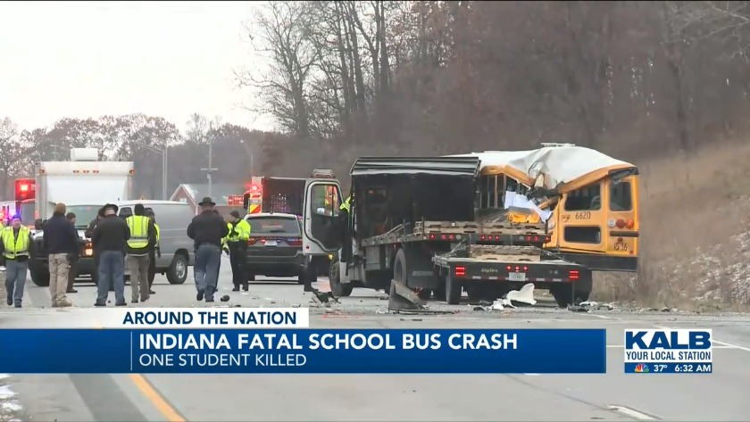 Fatal school bus crashes in Indiana, Illinois