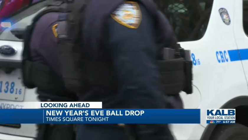 New Year's Eve ball drop happening tonight