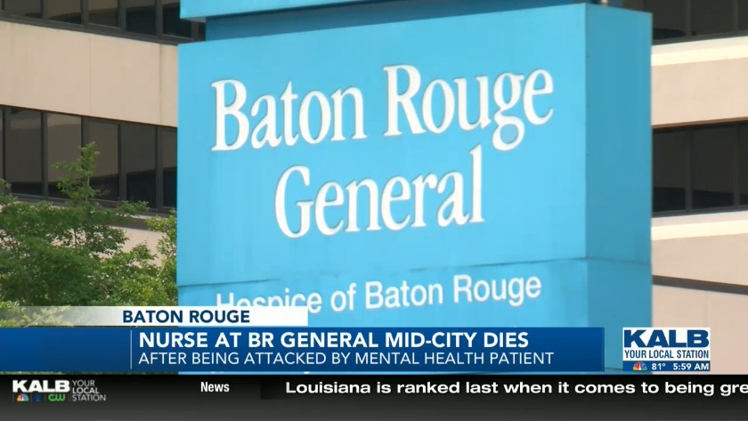Baton Rouge nurse dies after attack