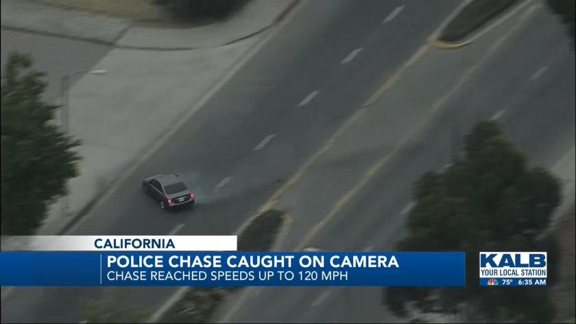 Police Chase in California ends in crash