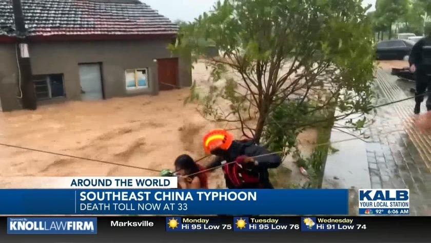 Death toll of typhoon raises to 33
