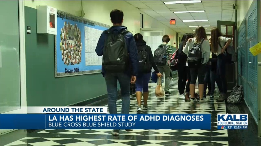 Louisiana leads the nation in ADHD diagnoses among children