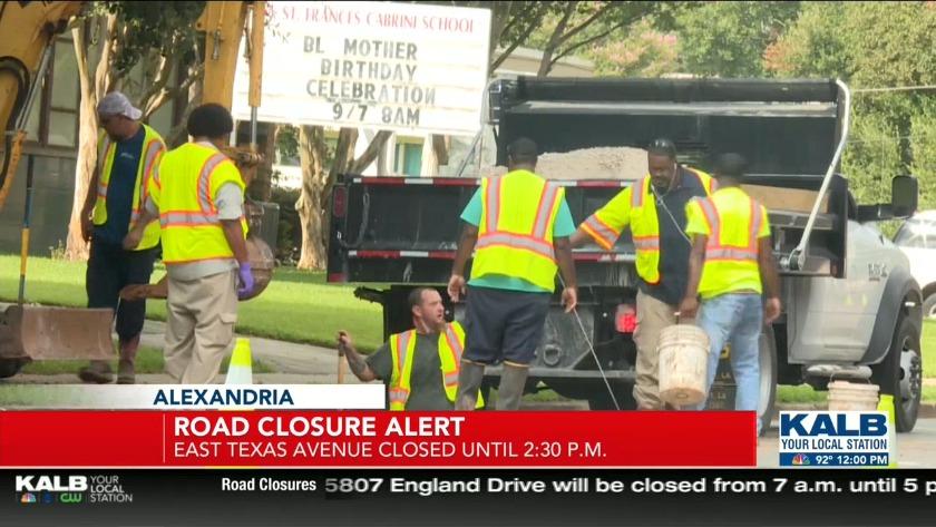 Road closure alert