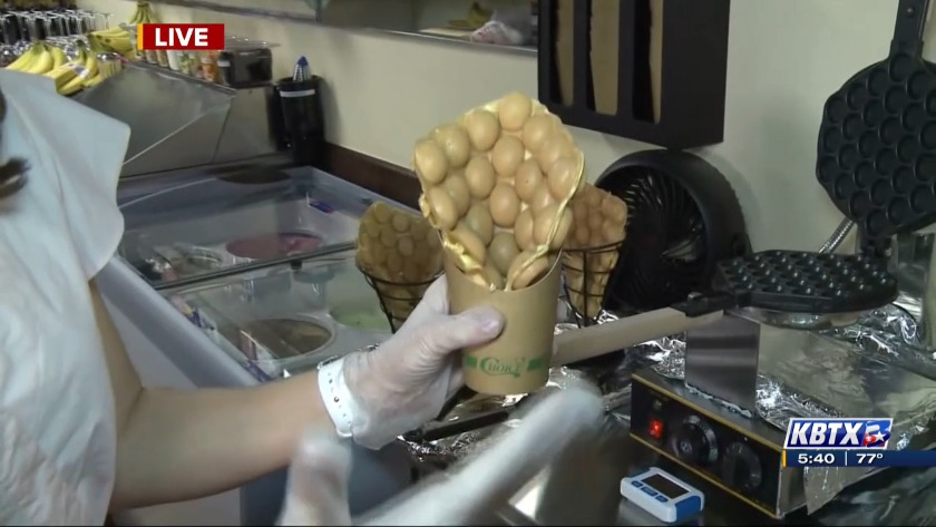 Chef Cao S Now Serving Up Bubble Waffle Ice Cream