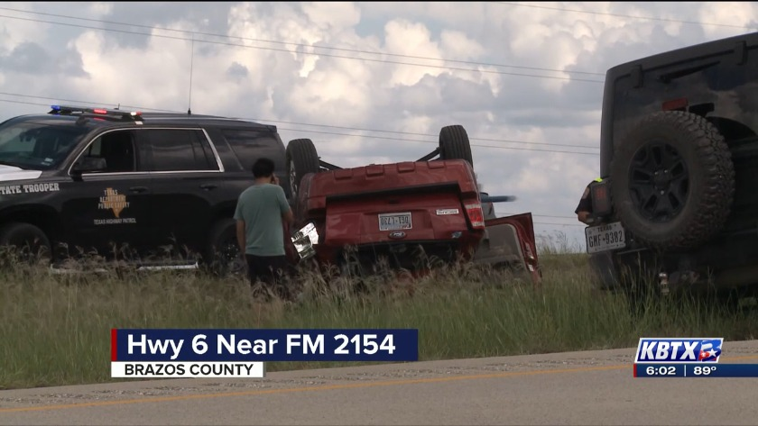 Rollover accident causes delays on Highway 6
