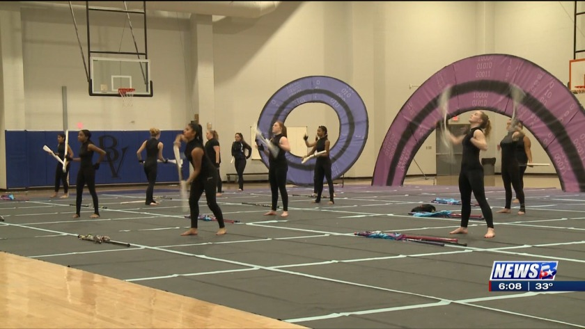 Bryan High School Color Guard Prepares For National Championship
