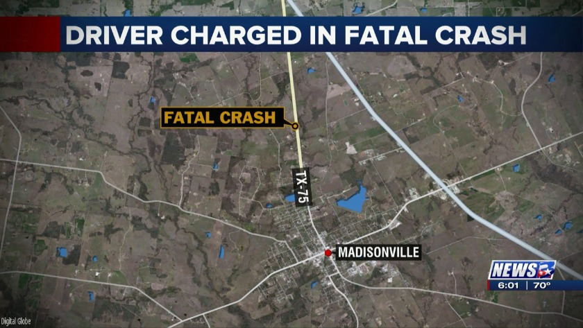 Driver charged with intoxication manslaughter after fatal accident