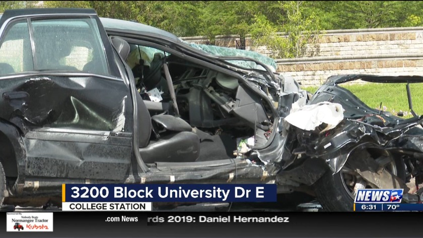 University Drive back open after accident near Hwy 6