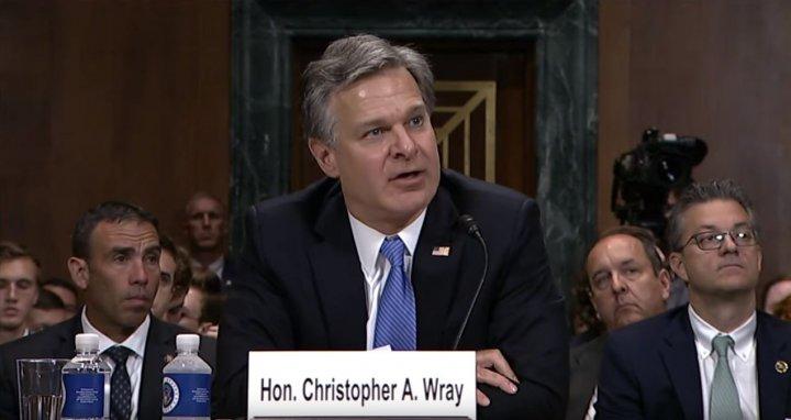 Image result for photos of WRAY AT JUDICIARY HEARING
