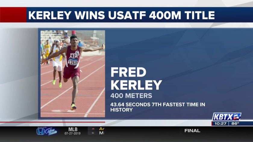 Fred Kerley wins USATF 400m title, the seventh fastest performer in