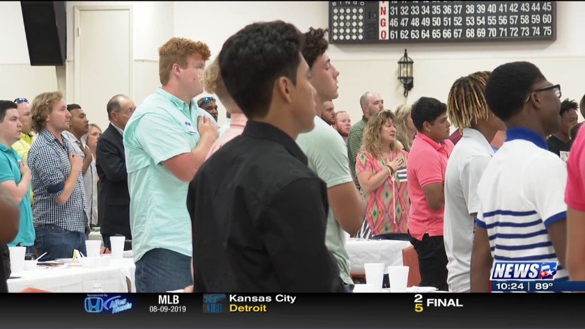 Banquet held for Rockdale and Cameron football teams