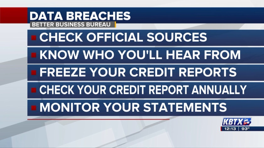 News 3 at Noon: Better Business Bureau tips on data breach