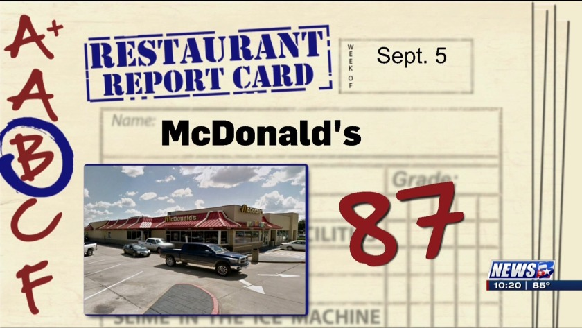 Restaurant Report Card - September 5, 2019