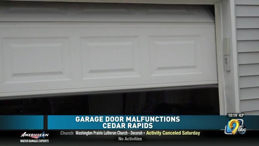 Cedar Rapids Neighborhood Experiences Garage Door Malfunctions