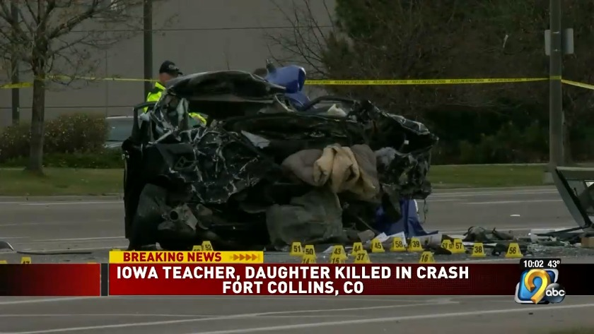 Cedar Rapids teacher, daughter killed in Thanksgiving crash