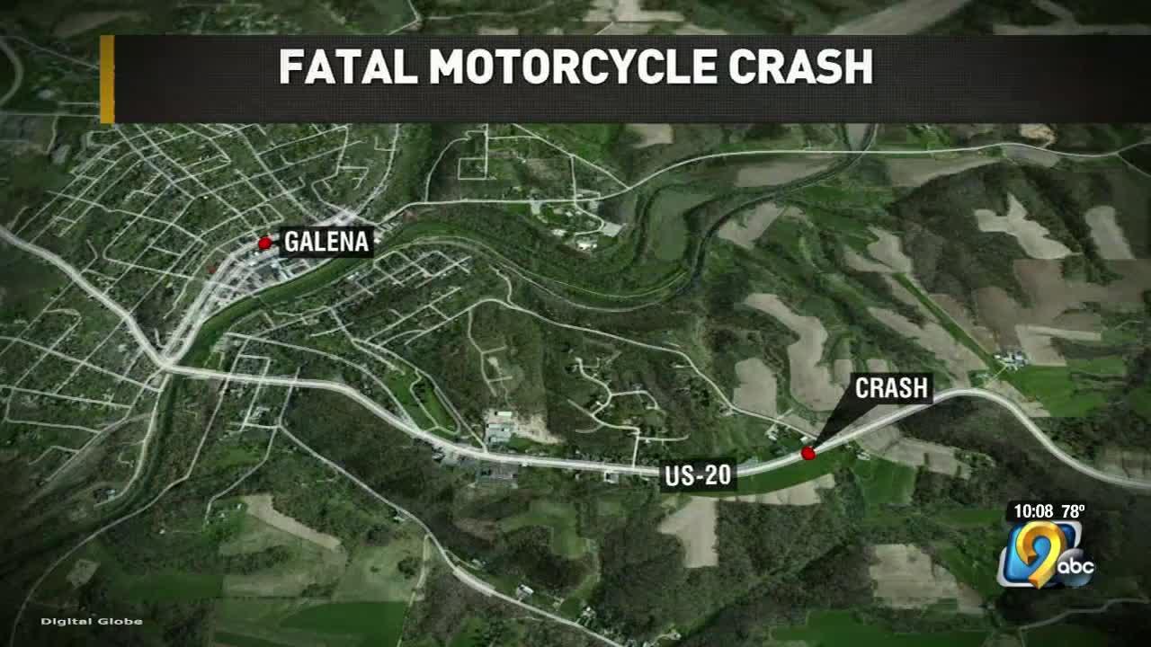 Galena crash kills motorcyclist