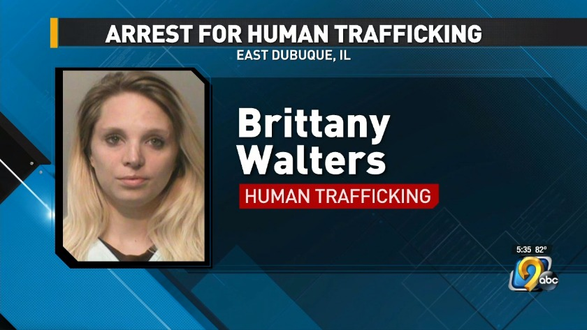 Woman arrested for human trafficking