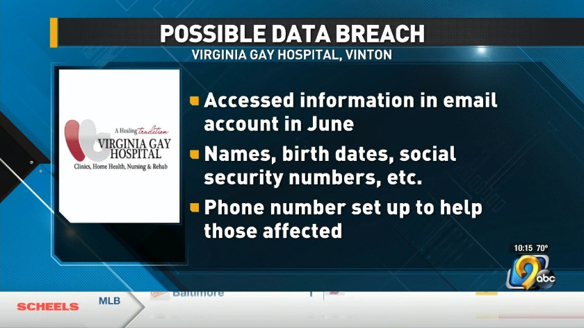 Data breach at Virginia Gay Hospital
