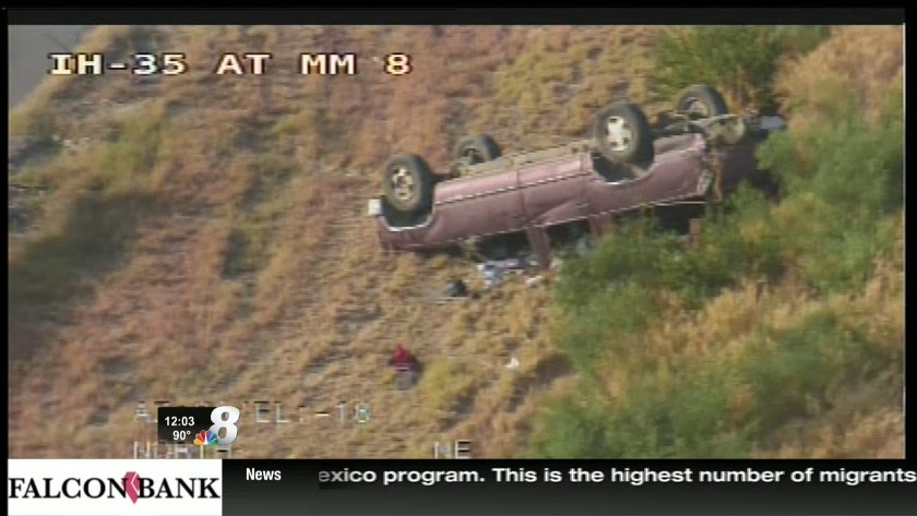 Rollover accident reported on I-35 near mile marker 8