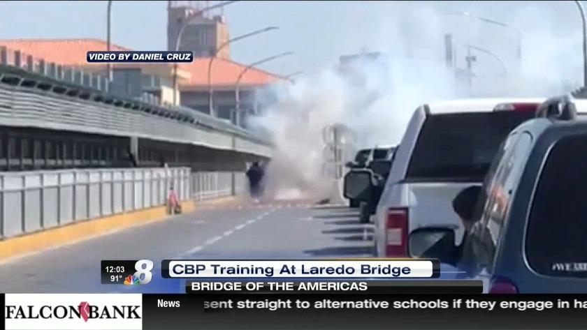 Training exercise halts traffic on Bridge one
