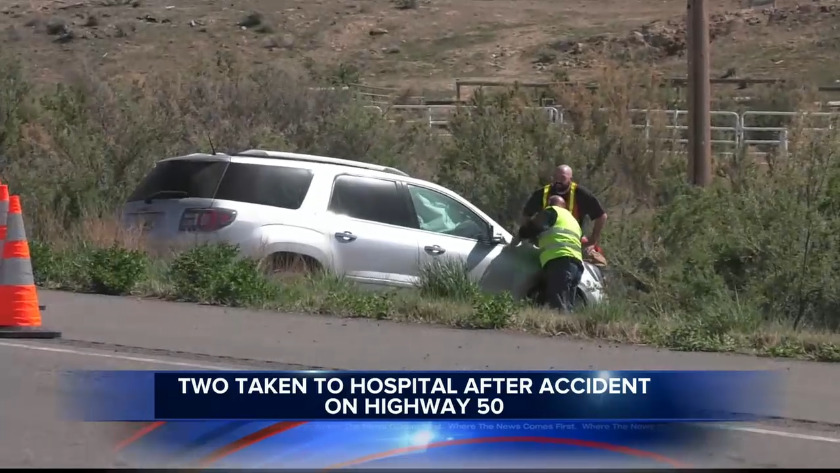 KJCT - 2 in hospital after Highway 50 crash