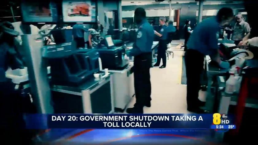 Day 20: Government shutdown taking a toll on TSA, BLM