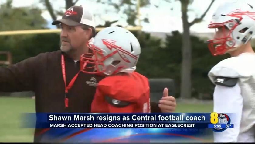 Kjct Hs Football Shawn Marsh Leaves Central Coach At Eaglecrest