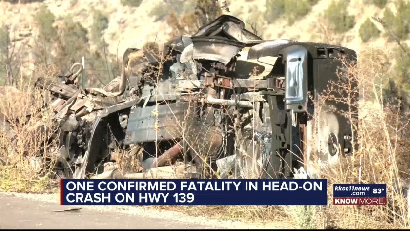 KKCO - One Confirmed Fatality In Head-On Crash On HWY 139