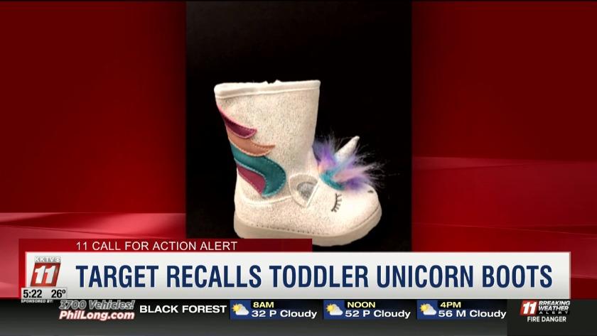 5df5f0ae20c9 CFA Alert  Target Recalls Toddler Unicorn Boots