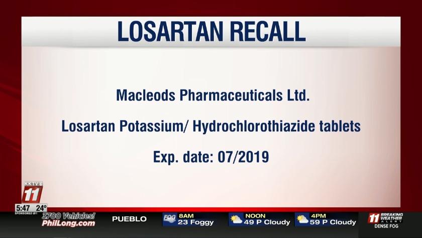 CFA Alert: Another Losartan Recall