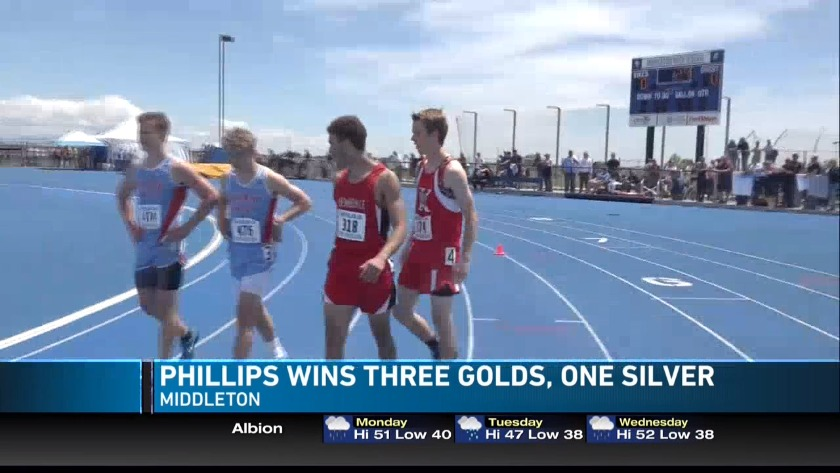 Phillips wins four medals
