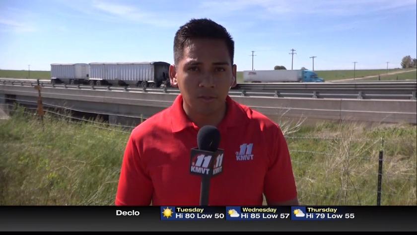 Collision blocks I-84, east of Hazelton, traffic rerouted