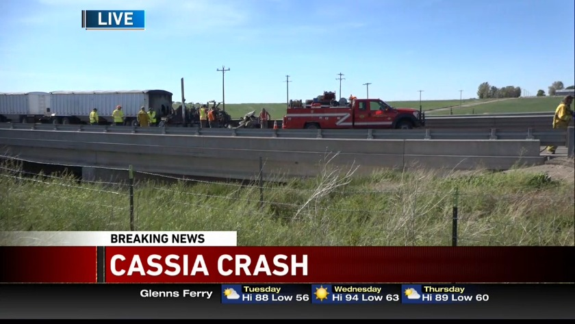 UPDATED: One dies, one injured in I-84 head-on collision, east of