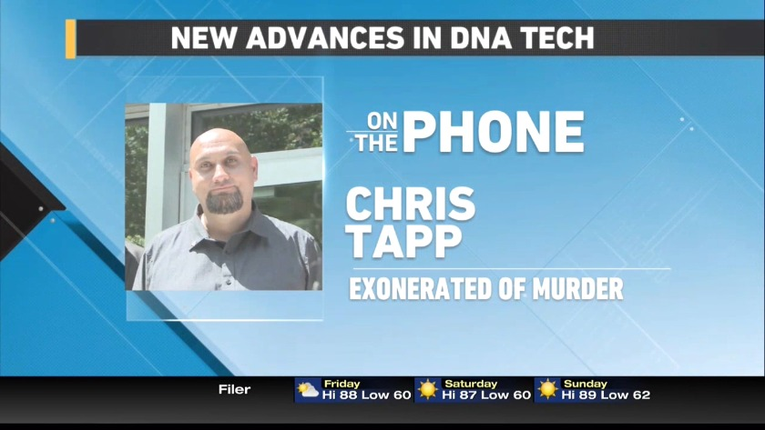 Chris Tapp talks about DNA advances that exonerated him