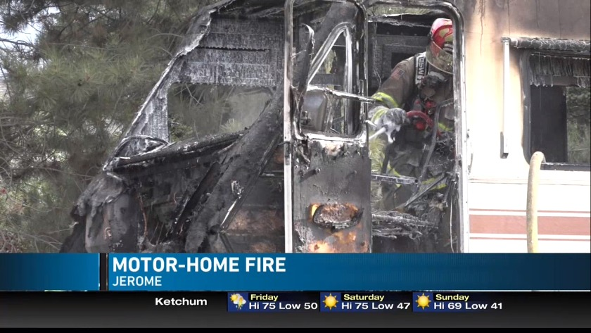 Jerome Rural Fire puts out motor-home fire