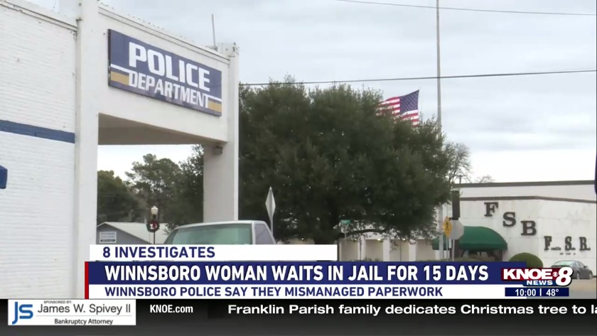 Winnsboro woman held in jail for 15 days without seeing a judge