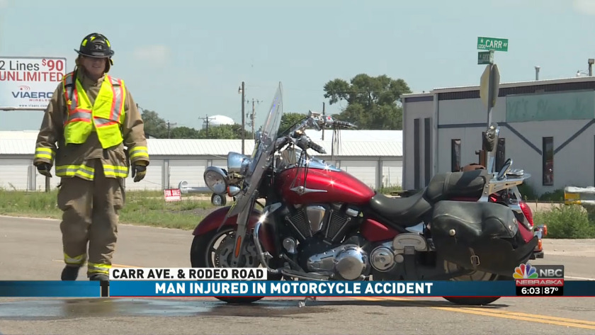 man injured in motorcycle accident